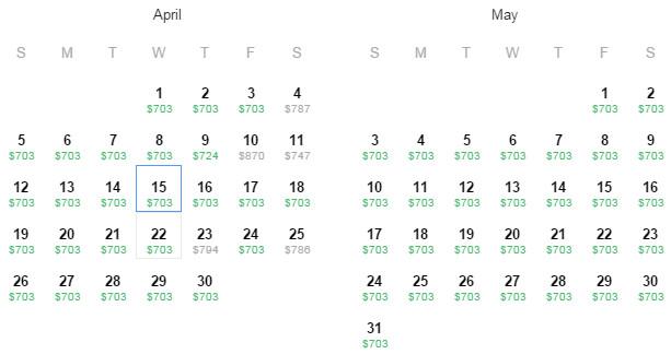 Flight Availability: Austin/San Antonio to Sao Paulo as of 2:10 PM on 3/22/15.