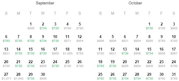 Flight Availability: Austin to San Antonio as of 6:24 PM on 6/30/15.