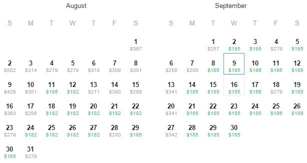 Flight Availability: San Antonio to Washington, DC as of 10:27 PM on 7/14/15