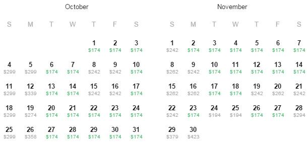 Flight Availability: Austin to Philadelphia as of 12:56 PM on 8/3/15.