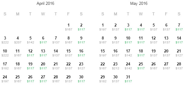 Flight Availability: Austin to Fort Lauderdale as of 5:32 PM on 11/4/15.