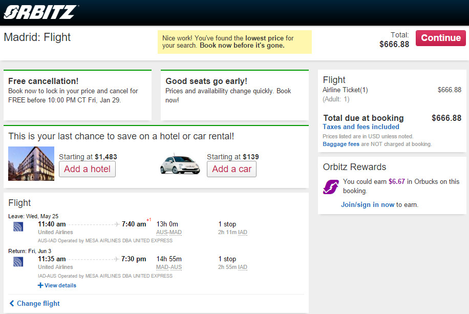 cheap airline tickets from austin