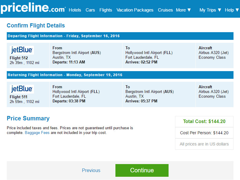 Airfare to fort lauderdale florida