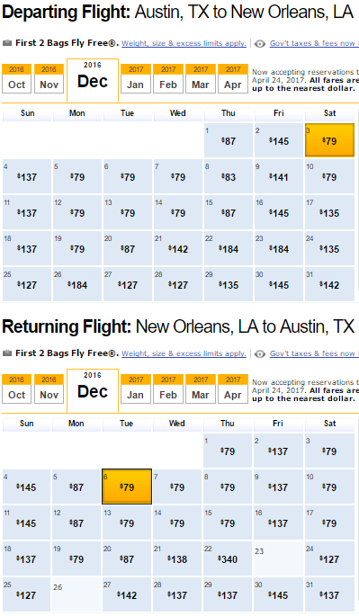 Nonstop Flights Austin Or San Antonio To From New Orleans