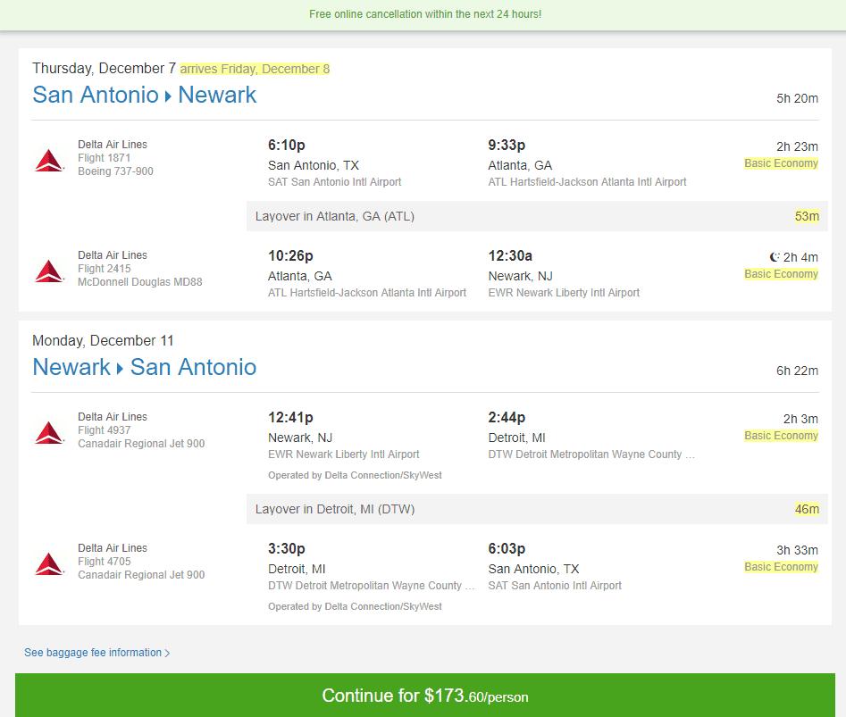 Cheap Flights San Antonio To From New York Newark Or San