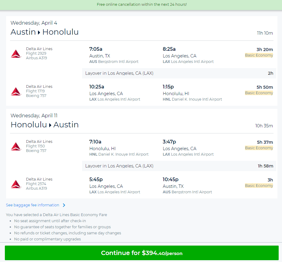 I Was Able To Pull This Fare Up On Priceline Screenshot Taken At 4 54 Pm 02 07 18