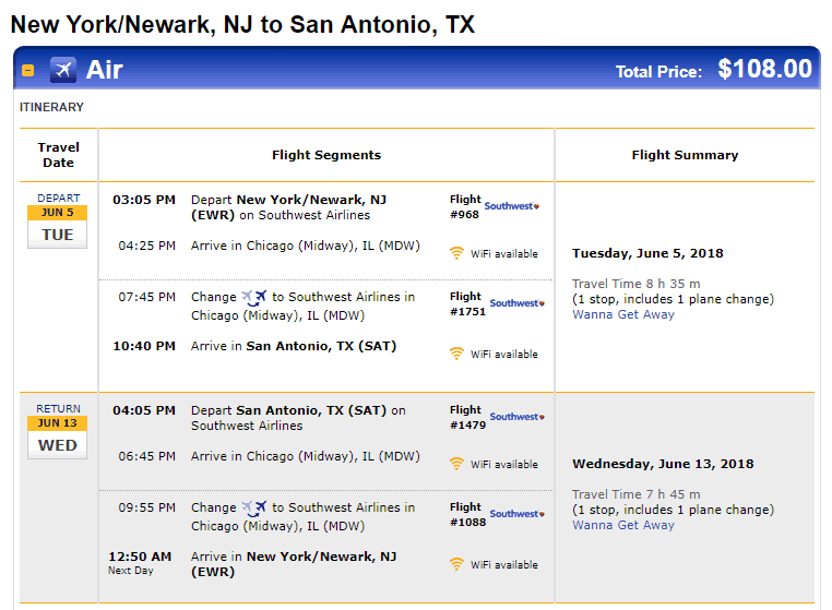 Cheap Flights San Antonio To From New York Newark 108 R