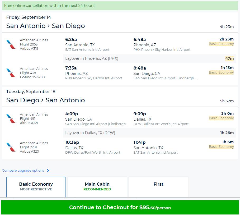 Cheap Flights San Antonio To From San Diego Las Vegas