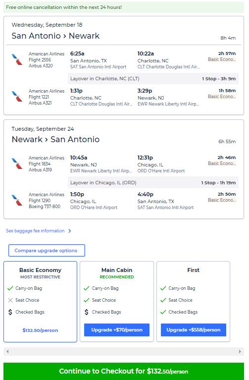 Cheap Flights San Antonio To From Newark New York 131